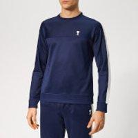 AMI Men's Contrast Bands Sweatshirt - Navy - S - Blue