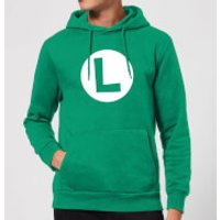 Nintendo Super Mario Luigi Logo Hoodie - Kelly Green - S - Kelly Green