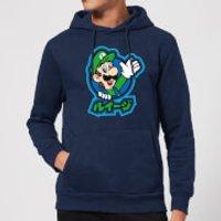 Nintendo Super Mario Luigi Kanji Hoodie - Navy - XXL - Navy