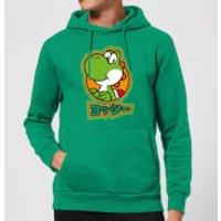 Nintendo Super Mario Yoshi Kanji Hoodie - Kelly Green - S - Kelly Green