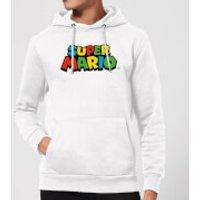 Image of Nintendo Super Mario Colour Logo Hoodie - White - XXL - White