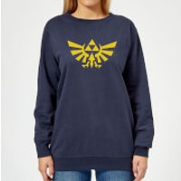 Nintendo Legend Of Zelda Hyrule Women's Sweatshirt - Navy - S - Navy