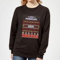 Nintendo Mario Kart Here We Go Women's Christmas Sweatshirt - Black - M - Negro