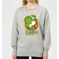 Nintendo Super Mario Yoshi Kanji Women's Sweatshirt - Grey - XS - Gris
