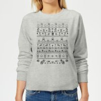 Nintendo Super Mario Retro Knit Women's Christmas Sweatshirt - Grey - XL - Gris