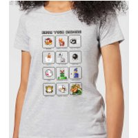 Nintendo Super Mario Know Your Enemies Women's T-Shirt - Grey - M - Grey