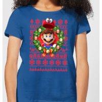 Nintendo Super Mario Mario and Cappy Women's T-Shirt - Royal Blue - XL - Royal Blue
