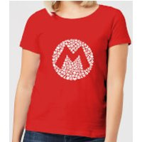 Nintendo Super Mario Mario Items Logo Women's T-Shirt - Red - S - Red