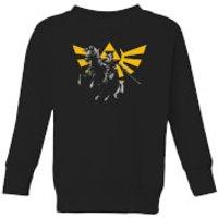 Nintendo Legend Of Zelda Hyrule Link Kid's Sweatshirt - Black - 3-4 Years - Black