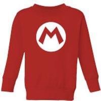 Nintendo Super Mario Logo Kid's Sweatshirt - Red - 11-12 Years - Red