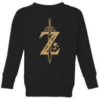 Nintendo Legend Of Zelda Master Sword Kid's Sweatshirt - Black - 7-8 Years - Black