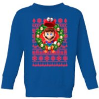 Nintendo Super Mario Mario and Cappy Kid's Sweatshirt - Royal Blue - 5-6 Years - Royal Blue