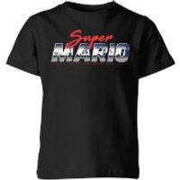 Nintendo Super Mario Original 80s Hero Kid's T-Shirt - Black - 11-12 Years - Black - Mario Gifts