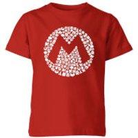 Nintendo Super Mario Mario Items Logo Kid's T-Shirt - Red - 11-12 Years - Red - Mario Gifts
