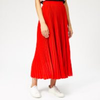 msgm-womens-pleated-crepe-skirt-red-it-40uk-8-red