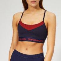 Calvin Klein Performance Womens Adjustable Sports Bra - Evening Blue - XS - Blue