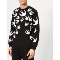 McQ Alexander McQueen Men's Swallow Swarm Pigment Sweatshirt - Darkest Black - S - Black