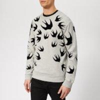 McQ Alexander McQueen Men's Swallow Swarm Flock Sweatshirt - Mercury Melange - XL - Grey