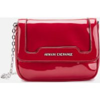 Armani Exchange Patent Small Cross Body Bag - Red