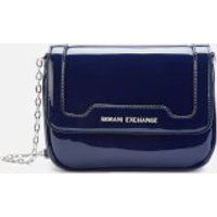 Armani Exchange Patent Small Cross Body Bag - Navy