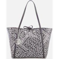 Armani Exchange Women's Medium Logo Shopper Bag - Anthracite/Argento