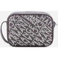 Armani Exchange Small Logo Cross Body Bag - Anthracite/argento