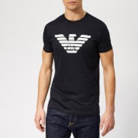 Emporio Armani Men's Large Eagle Logo T-Shirt - Navy - L - Blue