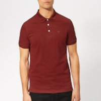 Emporio Armani Men's Basic Regular Fit Polo Shirt - Burgundy - XXL - Burgundy