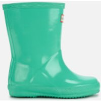 Hunter Toddler's First Classic Gloss Wellies - Ocean Swell - UK 12 Toddlers - Green