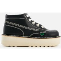 Kickers Women's Kick Hi-Stack Leather Boots - Navy - UK 6 - Blue