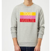 Summit Finish Grand Tour Stripes Sweatshirt - Grey - S - Grey