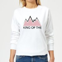 Image of Summit Finish King Of The Mountains Women's Sweatshirt - White - L - White