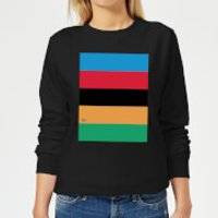 Summit Finish World Champion Stripes Women's Sweatshirt - Black - M - Black