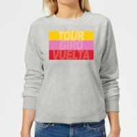 Summit Finish Grand Tour Stripes Women's Sweatshirt - Grey - XL - Grey