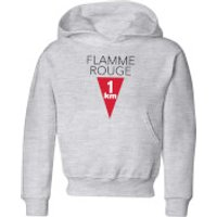 Summit Finish Flamme Rouge Kids' Hoodie - Grey - 9-10 Years - Grey