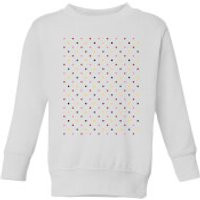 Summit Finish Grand Tour Dots Kids' Sweatshirt - White - 11-12 Years - White