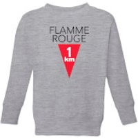 Summit Finish Flamme Rouge Kids' Sweatshirt - Grey - 3-4 Years - Grey
