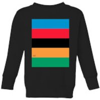 Summit Finish World Champion Stripes Kids' Sweatshirt - Black - 3-4 Years - Black