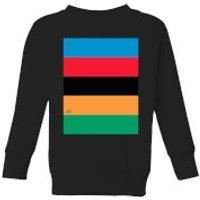 Summit Finish World Champion Stripes Kids' Sweatshirt - Black - 5-6 Years - Black