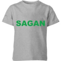 Summit Finish Sagan Bold Kids' T-Shirt - Grey - 7-8 Years - Grey