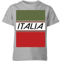 Summit Finish Italia Kids' T-Shirt - Grey - 9-10 Years - Grey