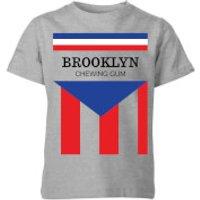 Summit Finish Brooklyn Chewing Gum Kids' T-Shirt - Grey - 5-6 Years - Grey