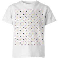 Summit Finish Grand Tour Dots Kids' T-Shirt - White - 9-10 Years - White