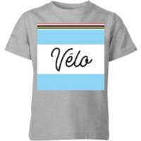 Summit Finish Velo Kids T-Shirt - Grey - 5-6 Years - Grey