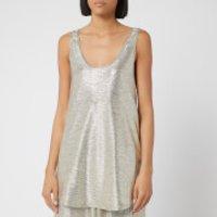 Balmain Women's Laminated Knit Tank Top - Silver - FR 36/UK 8 - Silver