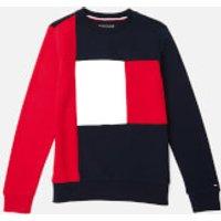 Tommy Hilfiger Boys' Colorblock Sweatshirt - Lychee - 10 Years - Multi