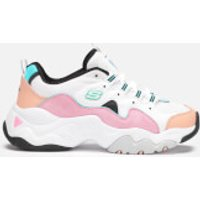Skechers Women's D'Lites 3.0 Zenway Trainers - White/Pink/Blue - UK 7 - Multi