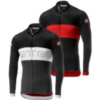 Castelli Prologo VI Long Sleeve Jersey - M - Dark Gray/Vortex/Winter Sky