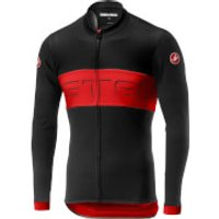 Castelli Prologo VI Long Sleeve Jersey - L - Black/Red/Black