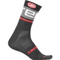 Castelli Free Kit 13 Socks - S-M - Black/Dark Grey